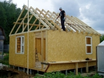 Устройство стропильной системы крыши для бани
