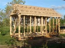 Готовый каркас деревянной бани
