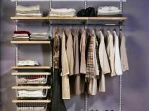 Простая и удобная гардеробная
