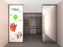 Гардеробная с раздвижными дверьми