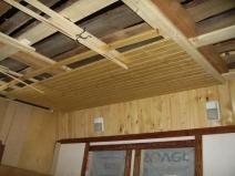 как крепить вагонку на потолке