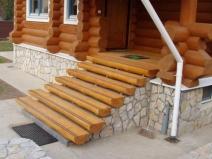 Крыльцо деревянный брус фото