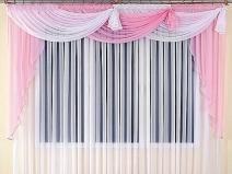 Прозрачные шторы с ламбрекеном