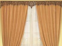 Ажурный ламбрекен для комнаты