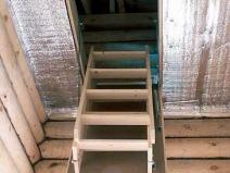 Установка чердачной лестницы в доме