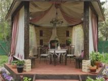 Беседка с летней кухней: привлекательный дизайн