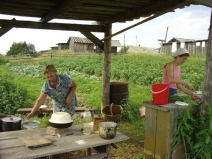 Обустройство временной летней кухни
