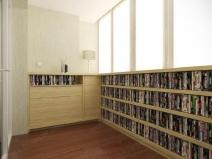Библиотека на лоджии - удобно и практично