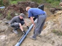 монтаж наружной системы водопрода
