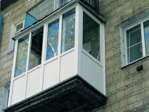 Стильный и нестандартный алюминиевый балкон