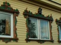 Резные наличники на пластиковых окнах