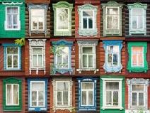 многообразие деревянных наличников на окна