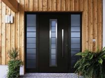 стильные наружные металлические двери