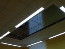 Навесной потолок с зеркальной вставкой