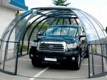 Интересный навес-купол защищает авто со всех сторон