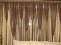 Оригинальные нитяные шторы можно сделать своими руками
