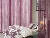 Оформление спальни нитяными шторами