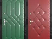 варианты декора дверной обшивки