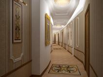 Бежевые обои для коридора