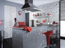 цвет обоев для маленькой кухни