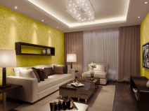 Cool-Yellow-Wallpaper-Design-For-Living-Room