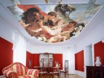 обои в виде картины на потолок