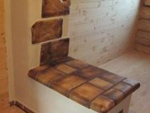 Печь отделанная керамической плиткой
