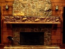 облицовка камина огнеупорной плиткой
