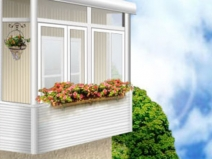 Остекленный балкон: дизайнерский зd эскиз