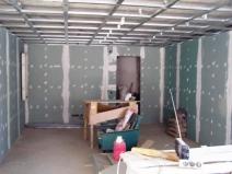 отделка стен каркасного гаража