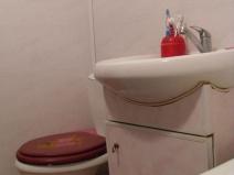 Оформление туалета в мягких тонах