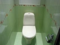 Дизайн туалета с использованием плитки