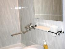 Отделка ванной комнаты пластиковыми панелями фото