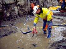 откачка канализации погружным насосом