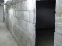 Перегородка из пазогребневых блоков