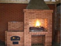 Печка совмещенная с барбекю