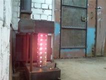 Печь для обогрева и освещения