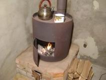 печка буржуйка для гаража