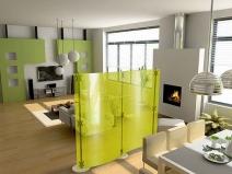 стильная идея по зонированию однокомнатной квартиры