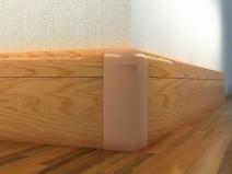 Деревянный напольный плинтус