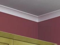 Полиуретановый плинтус для потолка фото