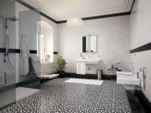 плитка для пола в ванной с рисунком