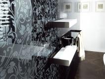 плитка для стен в ванной с рисунком