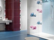 плитка настенная для ванной комнаты с цветами