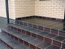 плитка клинкер для уличной лестницы