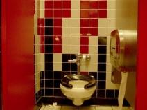 яркий и необычный дизайн плитки для туалета