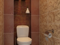 красивый рисунок плитки в туалете