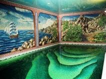 мозаичное панно для украшения бассейна
