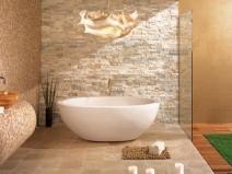 плитка под камень в ванной комнате