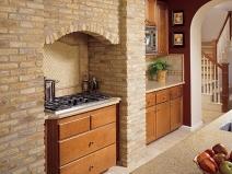 плитка под кирпич на кухне